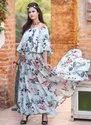 Printed Cotton Casual Wear Gowns