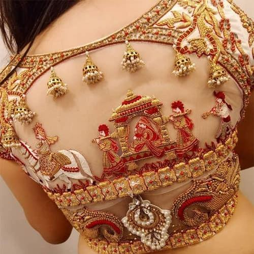 39c03ddafc08a6 Silk Embroidered Designer Bridal Blouse, Rs 5850 /piece, Manini's ...