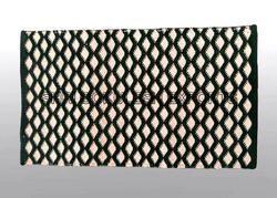 Rectangular SGE Black and White Cotton Rug