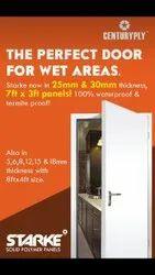 Glossy WPC Bathroom Door, Design/Pattern: Against Order