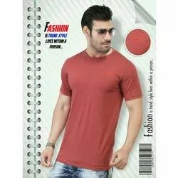 Logik Cotton Mens Half Sleeves Plain T Shirt