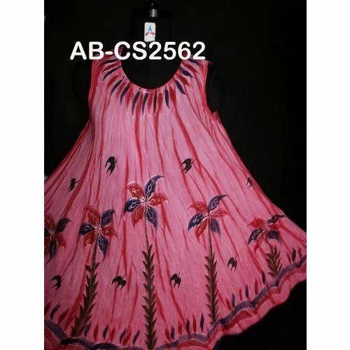 9412419536c Digital Printed Western Wear Designer Rayon Sundress