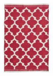 Red Geometrical Polypropylene Outdoor Rug for Home