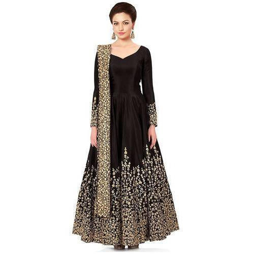 c0284fed7de Embroidered Zardozi Ladies Party Wear Dress