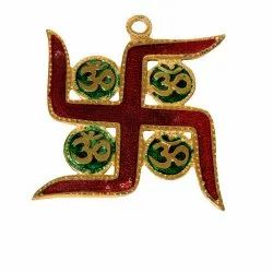 AJN-72 Gold Plated Swastik Wall Hanging