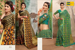 Black And Green Printed Earth Women Saree