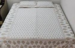 Khadi Gold Work Double Bedsheet