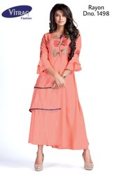 Rayon Fancy Kurti with Embroidery