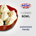 500 ml Clay Flower Bowl