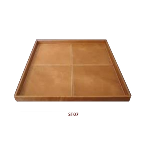 Brown Pu Leather Serving Tray Rs 560
