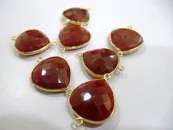 Red Onyx Gemstone Connector