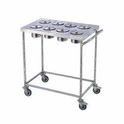 Silver 102 Cm X 50 Cm X 96 Cm Masala Trolley