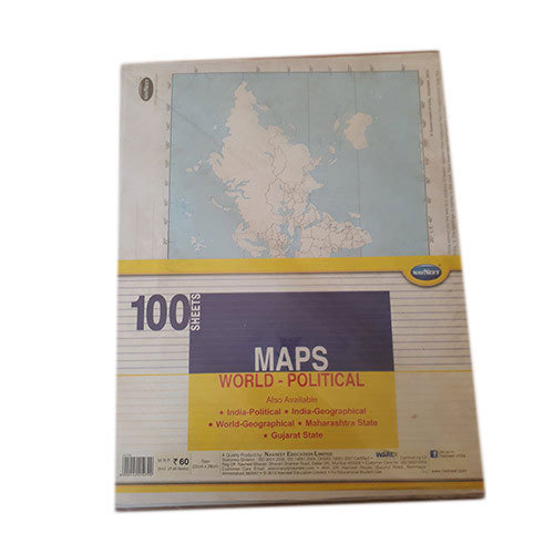 Paper world political map size a4 rs 55 piece shyama traders paper world political map size a4 gumiabroncs Gallery