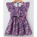 Cotton Girls Party Wear Frock, Age: 1 To 12 Years