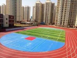 Outdoor Matte Synthetic Running Track Flooring Service