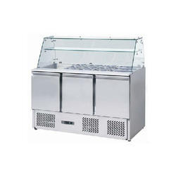 Silver SS Under Counter Refrigerator for Commercial