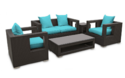 Rattan Sofa & Table