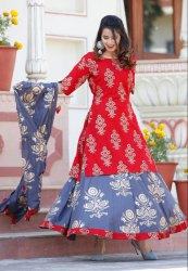 D to D 3/4th Sleeve Kurti In New Design