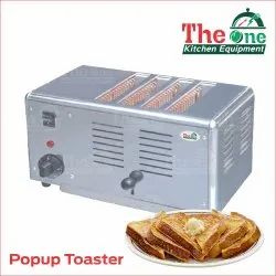 Electric Ss Slice Pop Up Toaster, Number of Slices: 4, For Hotel