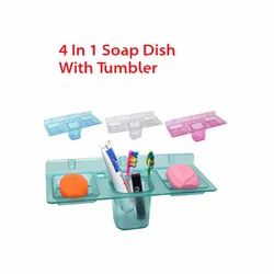 4 in 1 Soap Dish with Tumbler
