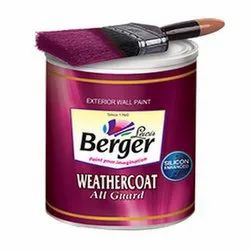 High Gloss Emulsion Berger Weathercoat Exterior Wall Paint, Packaging Size: 1 L, Packaging Type: Bucket