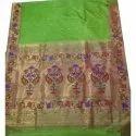 Green Kairi Gulab Brocade Pure Silk Sareee