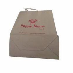 Brown Printed Shopping paper Bag, Capacity: 500gm-5 Kg