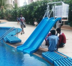 Swimming Pool Double Slide
