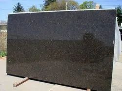 Coffee Brown Polished Granite Slab, For Flooring, Thickness: 2 cm