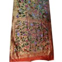 Wedding Wear Golden Tissue Brocade Paithani Saree