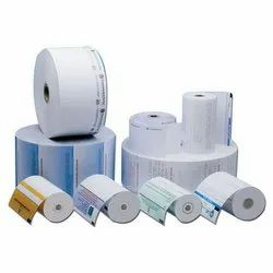 ATM Thermal Paper Rolls, Thickness: 1-2 Mm, GSM: 48-120 GSM