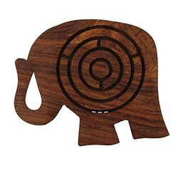 Hamee Labyrinth Board Game Wooden Elephant 5 Inches
