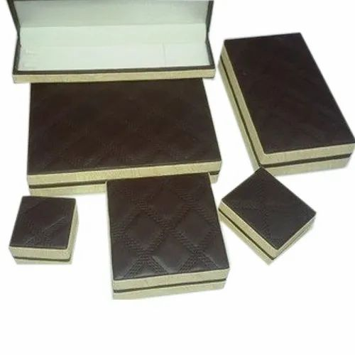 Brown and Cream Jewelry Packaging Box