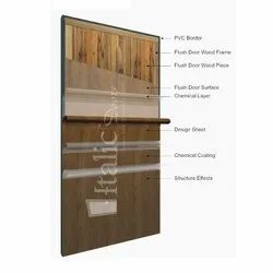 6-8 Feet (72-96 Inch) Wood PVC Laminated Door, For Home, Office etc