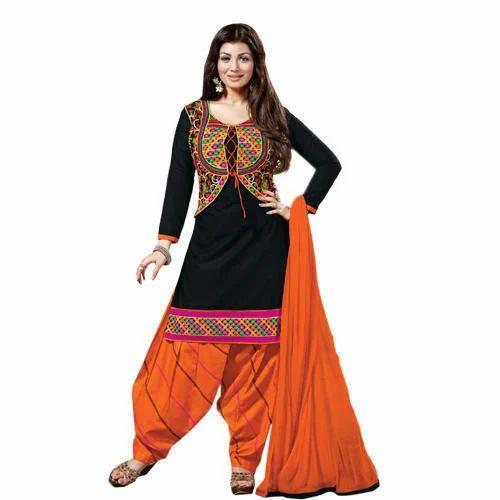 1855b232c7 Orange And Black Designer Salwar Suit, Rs 600 /set, Now And Wow | ID ...