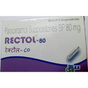Rectol Paracetamol Suppositories 80 Mg, Packaging Type: Strips
