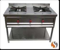 Commercial Two Burner Gas Range