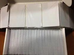 White 1 K M Fare Cards