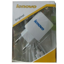 White Lenovo Mobile Charger
