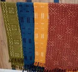 Indian Handloom Printed Mud Cloth Throw Blanket Hand Block Printed Mud Cloth Cotton Throws