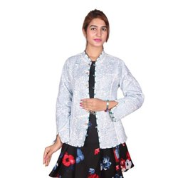 Full Sleeve Party Wear Ladies Kantha Cotton Jackets