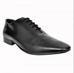 Men Black Leather Formal Shoes-ACFS-12101