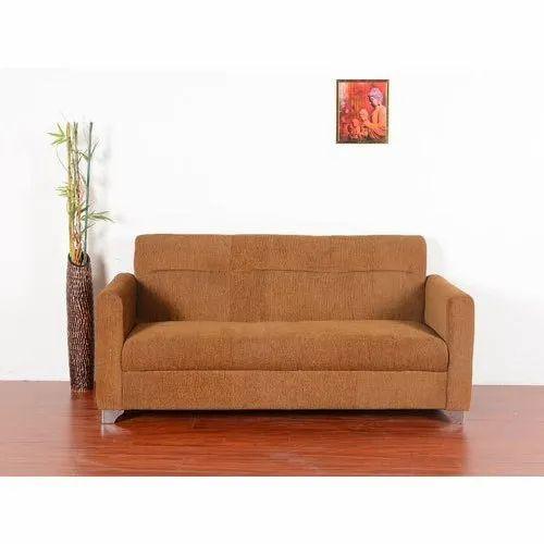 Orange Plain Molfino Sofa Fabric