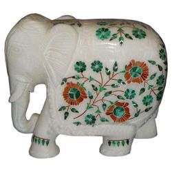 Marble Inlay Work Elephant Art