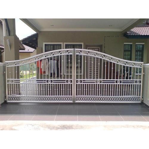 304 Grade Stainless Steel Main Gate At Rs 950 Square Feet Ss Gate