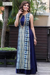 SLEEVELESS PARTY WEAR KURTI