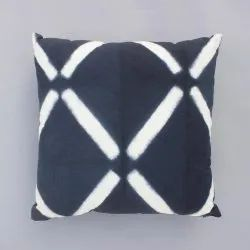 Tie Dye Indigo Decorative Cotton Cushion Cover