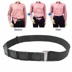 No-Slip Wrinkle Bandage Shirt Stay Invisible Stretch Belt for Formal (Black)