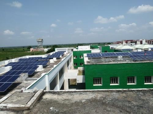 Solar Roof And Ground Power Plant