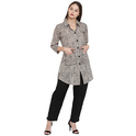 Grey Shirt Pattern Cotton Kurta